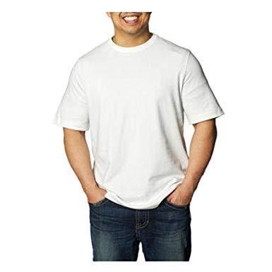 Kirkland Signature Herren T-Shirt, Rundhalsausschnitt, Weiß, 6 Stück
