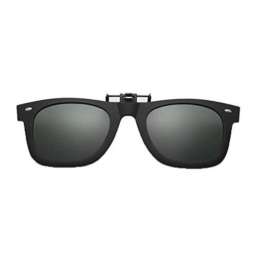 Polarisiert Clip auf Sonnenbrille Flip up UV-Schutz-Brille [Anti-Glare] [Brillen] fahren/Fischerei, Männer und Frauen