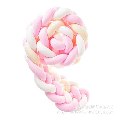 Yunteng Shop Paracolpi Handmade Braided COT Bumper Baby Head Guard Bumper Knot Cuscino Treccia Cuscino Cuscino Decorativo per Il Bambino Nursery Culla Biancheria da Letto (Color : #2, Size : 2m)