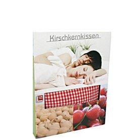 Kirschkernkissen mit Baumwollbezug, 20 x 30cm mit Umkarton