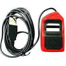 Safran Morpho Idemia MSO 1300 E3 USB Fingerprint Scanner with RD Service (6.5 x 3.5 x 1.5 cm, Red and Black)