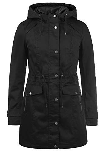VERO MODA Palma Damen Übergangsjacke Parka Jacke Mit Kapuze, Größe:L, Farbe:Black