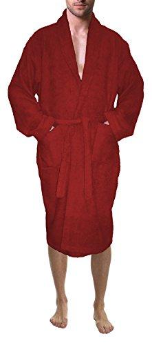 SKYLINEWEARS Men's 100% Terry Cotton Bathrobe Toweling Robe