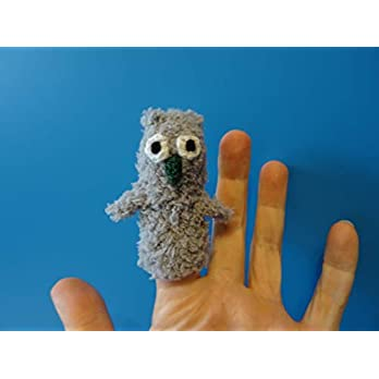 Fingerpuppe Eule / Uhu handgemacht, Geschenkidee Puppentheater
