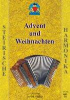 ADVENT + WEIHNACHTEN - SPIELHEFT - arrangiert für Steirische Handharmonika - Diat. Handharmonika - mit CD [Noten / Sheetmusic] Komponist: PAULI ERICH