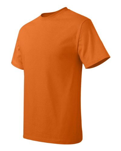 Hanes Mens T-Shirt (5250) Orange (Anaranjado Safety)