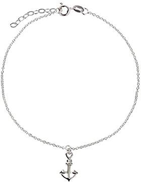 SL-Silver Fusskette Fusskettchen Motiv Anker 925 Silber