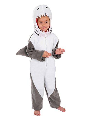 Hai Kinder Kostüm 110 - 116 für Fasching Karneval - Hai Kinder Kostüm