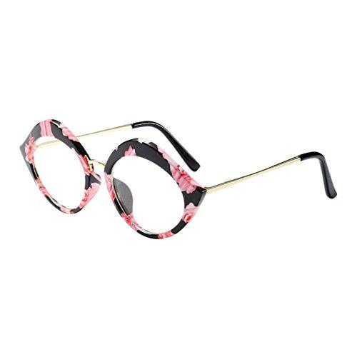 Zhuhaixmy Mode Lippen gestalten Brillen Rahmen Damen Frau Spectacles Klare Linse Glasses Korean Chic Persönlichkeit Rahmen Im Freien Optisch Brille