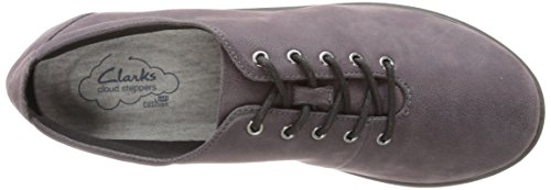 Clarks Cloudsteppers Sillian Tino Scarpa stringata Purple/Grey Synthetic Nubuck