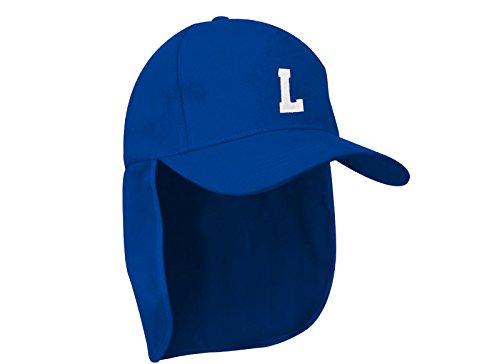 Junior-Legionär-Stil Jungen Mädchen Mütze Baseball Sonnenschutz Cap Hut Kinder Kappe A-Z Letter MFAZ Morefaz Ltd (L) (Kinder Dc Für Blau Hüte)
