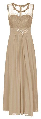 Chiffon Abendkleid Ballkleid Hochzeitskleid Festkleid 1523 Cappuccino (36)