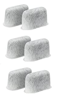 6 Charcoal Water Filters made for Cuisinart Coffee Makers; replaces DCC-RWF filters.