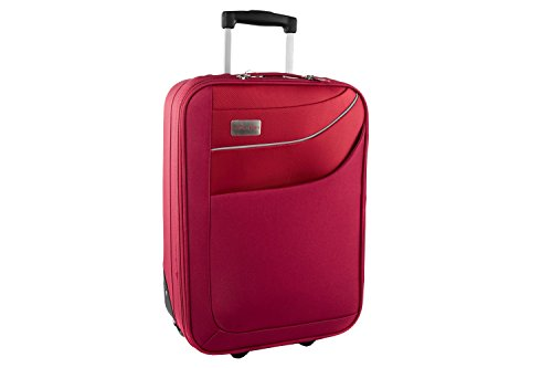 Valigia trolley semirigido PIERRE CARDIN rosso mini bagaglio a mano ryanair S182