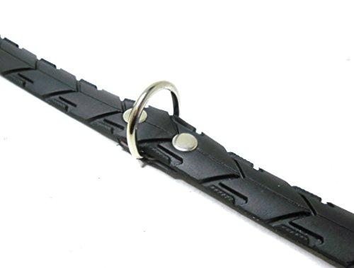 Handmade Hundehalsband aus recycelten Fahrradreifen. Halsumfang von 36-44cm. Robust ! - 4