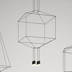 Vibia wireflow 0311 Suspension LED Noir laqué EVG Dali DIMM Bar 1961 lm - 2700 K