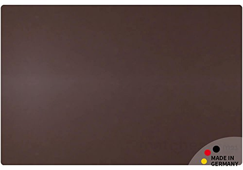 matches21 Echtleder Schreibtischunterlage NOBLE edles Upcycling Leder dunkelbraun marone rechteckig 60x40 cm MADE IN GERMANY