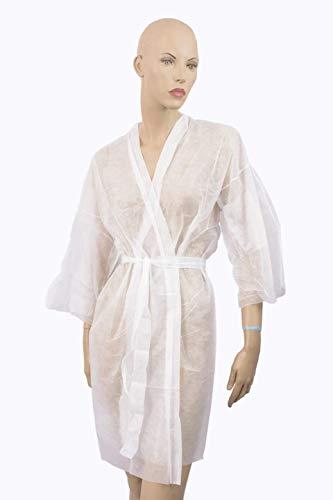 Kimonos Desechables Blanco TNT Ideal Para Peluquerias