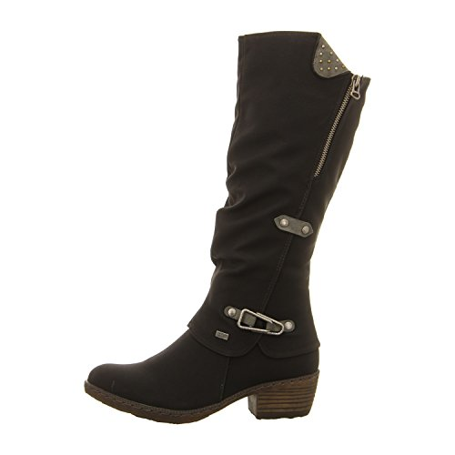00 femme 93752 bottines Rieker Noir bottes gqOwZR1