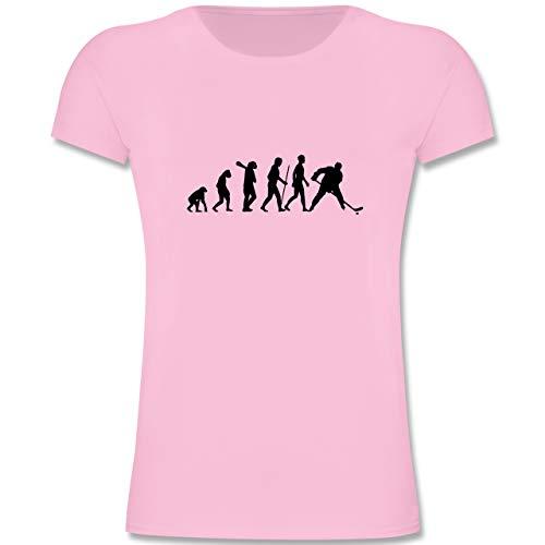 Evolution Kind - Eishockey Evolution - 128 (7-8 Jahre) - Rosa - F131K - Mädchen Kinder T-Shirt