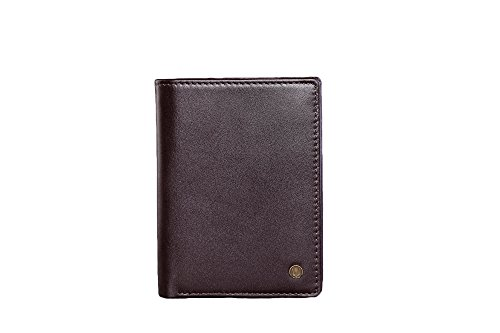 Cronus & Rhea® | Luxus Geldbörse mit Münzfach aus exklusivem Leder (Charon) | Geldbeutel - Brieftasche - Portemonnaie - Geldklammer | Echtleder | Mit eleganter Geschenkbox | Herren (Dunkelbraun)
