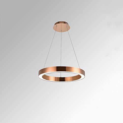ZLL Haushalts-Leuchter, Kristallpalast-Deckenlampe, Schmiedeeisen-Wand-Lampe Postmodern-minimalistischer Leuchter-Persönlichkeit Kreativer runder Ring Acryl-Wohnzimmer-Esszimmer-Schlafzimmer-Café-Kle -