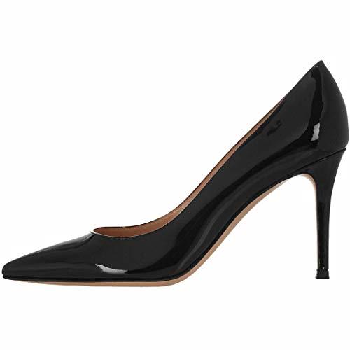 MISS&YG Frauen Pumps High Heels Sexy Spitzen Toe Kleid Party Court Schuhe Damen Kleid Schuhe Party Schuhe Nachtclub Schuhe,Black,37 Heel Sexy Pump