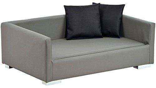 Silvio Design Hundesofa und Katzensofa Lucky Gr. 1, B/L/H: 70/40/20 cm, grau 70 cm, 20 cm, grau
