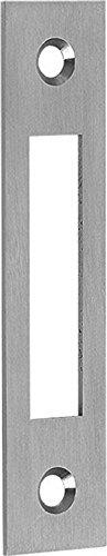 Schließblech Flachschließblech Stulp 20mm abgerundet Stahl NiSi 90mm -