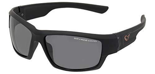 Savage Gear - Schmal Sonnenbrille schwimmend Polarisierte Sonnenbrillen - Dunkelgrau (Sonnig)