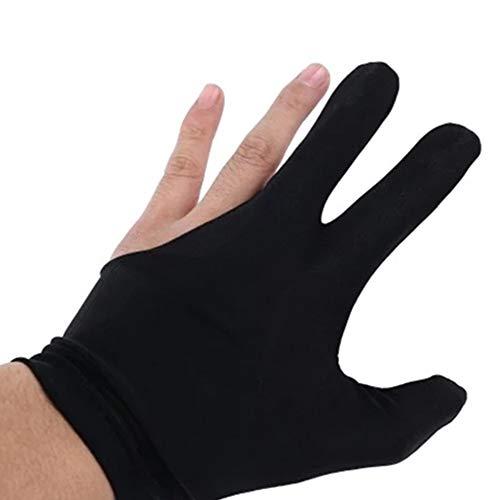 Aofocy Billardhandschuhe schwarz links und rechts 3 Stück Set S - M