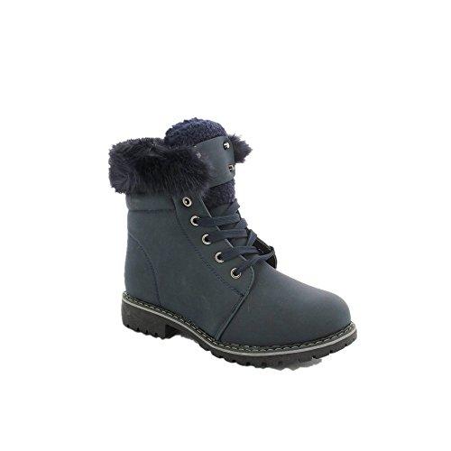 Sneaker Semi-equilibrado Sapatos Gallez Rand Dos Homens Ideais Forrado Com Pele Marine