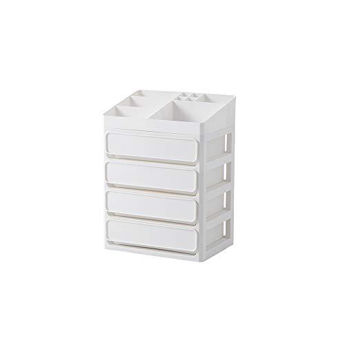 HGRCE Aufbewahrungsboxen Bilden Sie Organisator-Mehrschichtige Plastikbehälter-Kasten-Make-Upfach-Kosmetische Aufbewahrungsbox-Schmuck-Kasten-Büro-Kästen -