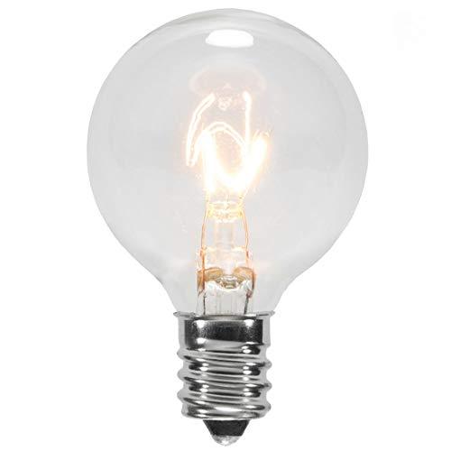 25Pack-Klar G40Globe Glühbirnen für Terrassen Lichterkette passt E12und C7Sockel 5Watt G40Glühbirnen Ersatz für Terrasse Lichter