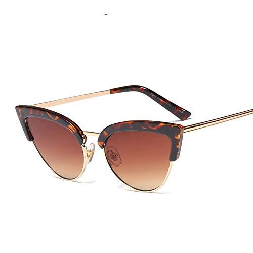Taiyangcheng Polarisierte Sonnenbrille Süße Damen Retro Cat Eye Sonnenbrille Frauen Vintage Frauen Marke Farbverlauf Sonnenbrille Uv400,C13