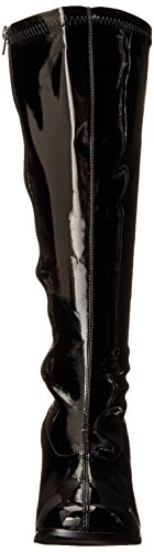 GOGO-300X STIEFEL SCHWARZ STRETCH EXTRA WADENWEITE 37 Absatz 7,6 cm Schwarz
