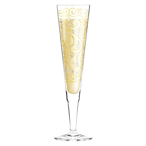 Ritzenhoff 1070217 Champus Design Champagner-/Sekt Glas mit Serviette, Liana Cavallaro, Frühjahr 2015