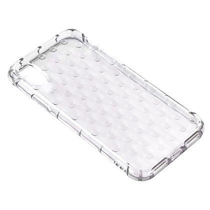 Speira Schutzhülle für iPhone mit Punktemuster, Rutschfest, transparent, iPhone X, farblos -