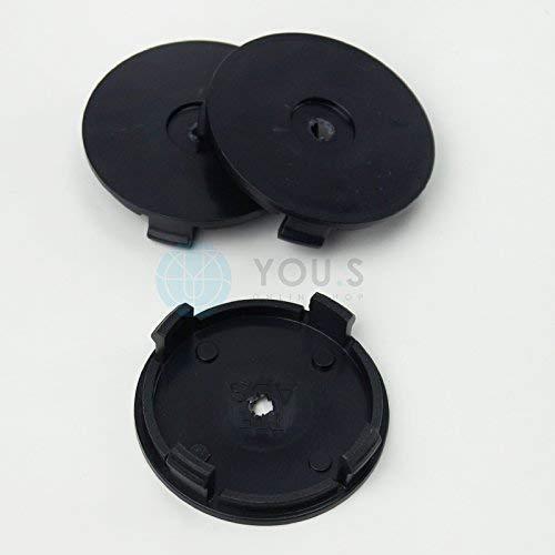 Argent 4x Chapeaux de Moyeux Enjoliveurs de Moyeux Couvercles de Jantes 57,0-51,5 mm