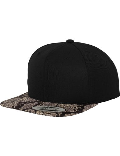 Flexfit Erwachsene Mütze Animal Snapback, Blk/Cobra, One size, 6089PR (Baseball Cobra)