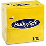 Bulky 32225 Soft BS Serviettes pliage 1/8, 3 couches, 40 cm x 40 cm, JAUNE ()