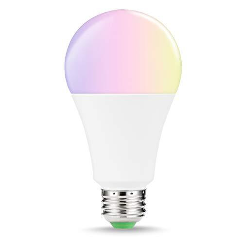 LOHAS 14W Ersetzt 100W Smart LED Birne E27, RGBW Color, Dimmbar 1380LM Ambiance WIFI LED, Steuerbar via App, Kompatibel mit Amazon Alexa, IFTTT und Google Home, 1er