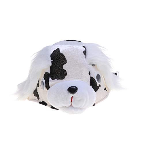 Amosfun Tierkopfmütze Dalmatiner Performance Cap Critter Kopfbedeckung Kinder Cosplay Supplies