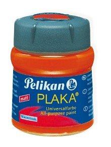 Pelikan 134361 - Bastelfarbe Plaka, Glas Ton 23, 50 ml, signalrot