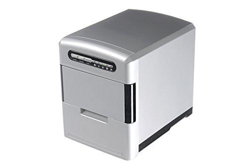 Trebs Máquina de cubitos de hielo con cubitos de hielo extraíble cajón Incluye Vaso Medidor y cubitos de hielo Pala (2,0L Capacidad del Tanque de agua, 12kg cubitos de hielo en 24horas, 140W)