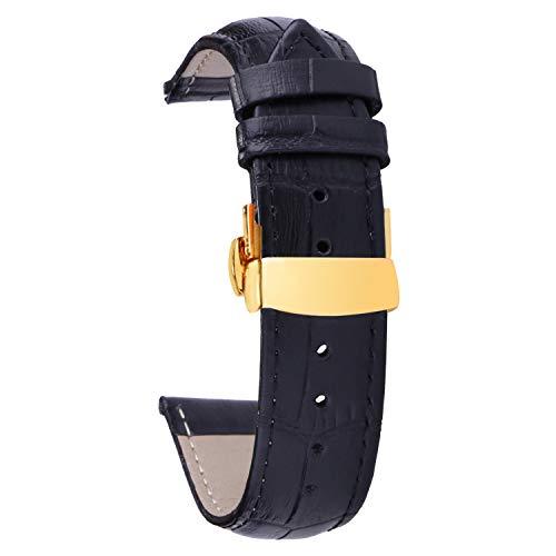 pulsera para hombre 20mm reloj de acero inoxidable cierre de cinturón de...