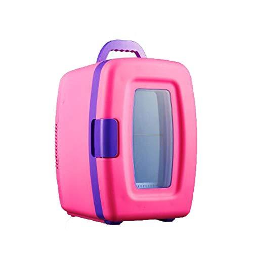 0 ℃ Outdoor Mini-Kühlschrank Kühler und Wärmer-10 Liter/8 Can-Für Zu Hause, Büro, Auto, Schlafsack Oder Boot-Kompakt & Tragbar-AC & DC-Stromkabel,Pink