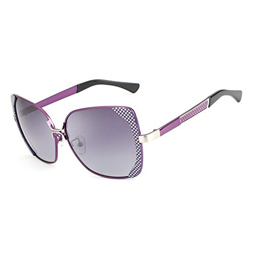 YanFa Sunglasses Lady, Sonnenbrille, Mode, Persönlichkeit, unregelmäßig, lila, S00094