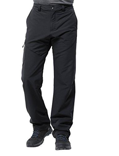 Jack Wolfskin Herren Chilly Track XT Pants Men Softshell-Hose, Black, 46 (Mens Track Pants)