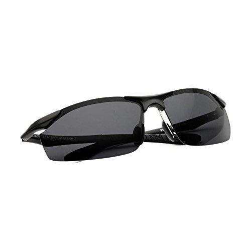 Sonnenbrillen Sonnenbrillen Herren Sonnenbrille Männer polarisierten Gläser Aluminium-Magnesium-Sport-Sonnenbrille Treiber Ultra-Light Driving Spiegel Augen Schütze Deine Augen (Farbe : C)